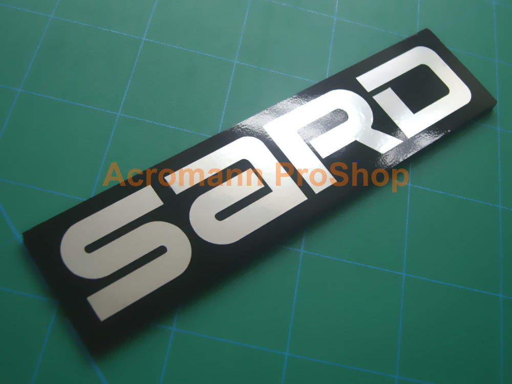 SARD racing team JDM logo Grille Trunk Radiator Emblem Badge #2